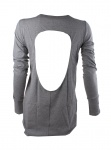 Papillon long-sleeved shirt women grey