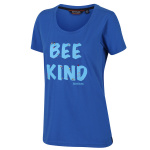 Regatta t-shirt Filandra IV dames blauw Bee Kind