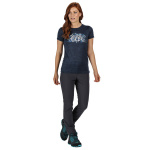 Regatta T-shirt Fingel V Graphic dames polyester donkerblauw