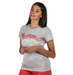 Regatta T-shirt Fingel V Graphic dames polyester grijs