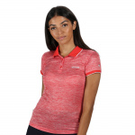 Regatta polo dames 100% polyester rood