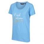 Regatta t-shirt Filandra IV dames blauw Sea