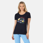 Regatta t-shirt Filandra IV dames Flowers navy