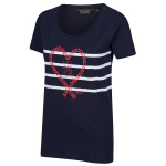 Regatta t-shirt Filandra IV dames Heart navy