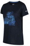 Regatta T-shirt Fingel V Graphic dames polyester navy