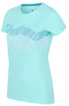 Regatta T-shirt Fingel V Graphic dames polyester aqua