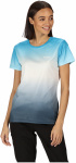 Regatta T-shirt Fingel V Graphic dames polyester blauw/grijs