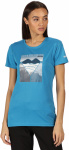Regatta T-shirt Fingel V Graphic dames polyester blauw