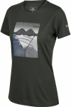 Regatta T-shirt Fingel V Graphic dames polyester groen