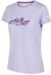 Regatta T-shirt Fingel V Graphic dames polyester paars