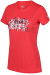 Regatta T-shirt Fingel V Graphic dames polyester rood