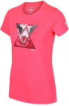 Regatta T-shirt Fingel V Graphic dames polyester roze/grijs