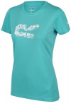 Regatta T-shirt Fingel V Graphic dames polyester turquoise