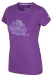 Regatta T-shirt Fingel V Graphic dames polyester violet