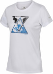 Regatta T-shirt Fingel V Graphic dames polyester wit/blauw