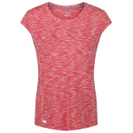 Regatta t-shirt hyperdimension dames polyester cerise