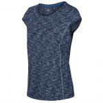 Regatta t-shirt Hyperdimension dames polyester denim blauw