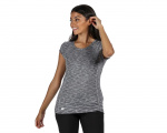 Regatta t-shirt hyperdimension dames polyestergrijs