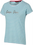 Regatta t-shirt Olwyn Carpe Diem dames wit/blauw