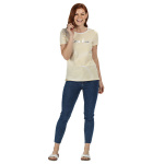 Regatta t-shirt Olwyn Carpe Diem dames wit/geel