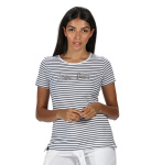Regatta t-shirt Olwyn Carpe Diem dames wit/navy