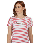 Regatta T-shirt Olwyn Carpe Diem dames wit/rood