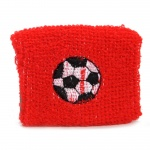 TOM zweetband voetbal 7 cm rood